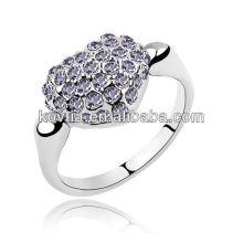 Porte-anneau en pierre gemme du Japon cz anneaux en diamant bijoux en or blanc anneau coeur