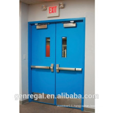 BS Approved Best price steel fire exit double doors
