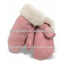 Кожаные перчатки из овечьей шерсти