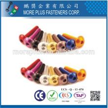 Hecho en Taiwán Alta calidad ISO 7380 Botón Hex Socket Head Cap Tornillo de la máquina