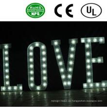 Professionelle Front Lit LED Birne Zeichen