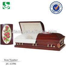 Professional high gloss wooden custom polished casket