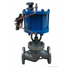 Shanghai POV high quality flange connection air-operated globe valve pn10
