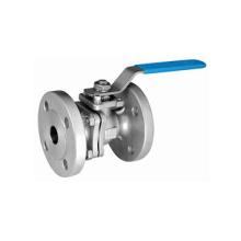 Válvula de bola con brida de acero inoxidable 2PC