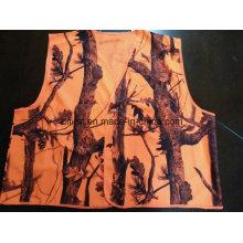 Жилет безопасности со всей печатью 100% полиэстер оранжевый цвет