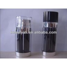 20мл 30мл 60мл черная двухкамерная безвоздушная бутылка для косметики для косметической упаковки
