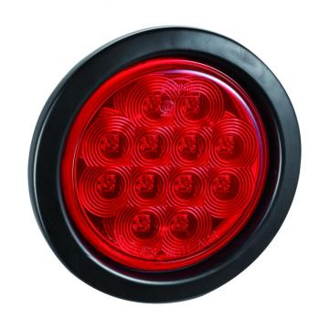 LED Trailer Truck Stop Tail Lamps Round Rubber