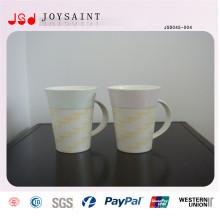 Tasse en porcelaine en forme de V avec poignée