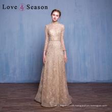 OB96219 high fashion best evening dress long sleeve floor length prom dresses