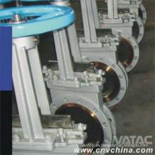 Válvula de compuerta de doble brida de acero fundido y acero fundido