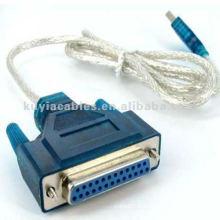 USB vers IEEE 1284 25 broches femelle DB25 Adaptateur pour câble d'imprimante parallèle Bleu