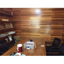 Painel de madeira da parede do escritório