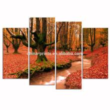Осенняя лесная плакат / деревянная рамка Растянутый холст Print / Forest Stream Изображение Giclee Распечатать