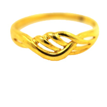 Bague Simple Tresse Or Jaune 18 K