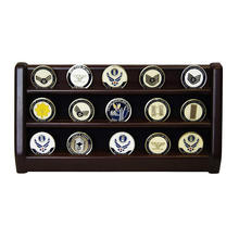 Wooden Collector Medal Storage Box Lapel Pin Display Case Holder Cabinet Wood Shadow Box