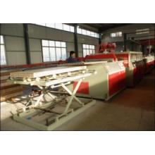 2014 LIGNE DE PRODUCTION DE PLAQUE DE PORTE EN PLASTIQUE DE BOIS DE PVC DE LA CHINE / MACHINE DE CARTE CREUSE DE WPC