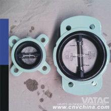 Wcb / CF8 / CF8m Metal Seat mariposa válvula de retención