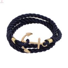 Bracelet d'ancre en cuir de charme 2017