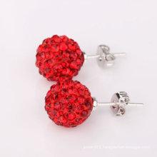 Wholesale Shamballa Earrings With 925 Sterling Silver Hoop Earrings BWE22