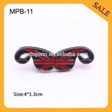 MPB11 Matériau en métal nickel noir en forme de moustache pour matériel de chaussure Décoration et accessoire de vêtement