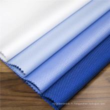 Tissu uniforme de bureau Dobby haut de gamme teint en fil