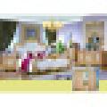 Lit King pour l'ensemble de meubles de chambre à coucher classique (W813B)
