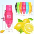 Sports Water Bottle 22oz H2O Multi Color Fruit Lemon Drinking Bottle No Minimum