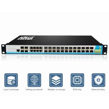 Gigabit ethernet réseau switch 24 port couche 3 prix de hub