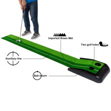 High quality cheap golf training aid putting mat with track