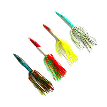 RJL011 forked tail vertical rubber jigging lures