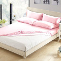 3Pcs Luxury Silk Bedding Fitted Sheet Pillowcases Set