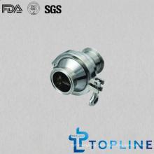 Válvula de retención sanitaria Tri-Clamp de acero inoxidable