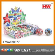 Engraçado bola de stress 7.5cm PU bola 12pcs / display box pu bola de futebol