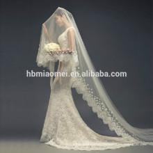 Koreanisch-Stil hinter der Kathedrale Schleier Braut lange Hochzeit Schleier weiche Ehe neue Spitze wischen 3m Hochzeit Schleier lange Kathedrale