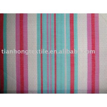 Merzerisierte fertige Garn gefärbt Baumwolle Jacquard Stoff