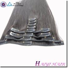Heißer Verkauf Großhandelsdoppeltes gezeichnetes Jungfrau remy Menschenhaarverlängerung 120g Klipp im Haar