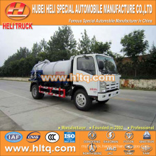 JAPAN technology 4x2 6000L vacuum tanker truck 4KH1-TCG40 120hp