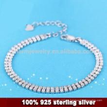 CYL010 plata esterlina 925 micro pavimentan la pulsera de las mujeres con la CZ, regalos de la Navidad de la novia