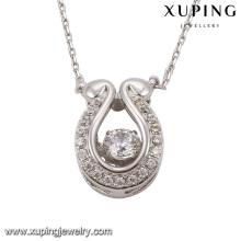 Necklace-00073 Fashion Elegant Rhodium Imitation Crystals De Swarovski Jewelry Colgante Collar