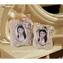 Rose gold high quality high-end design polyresin couple photo elegant frame for home hotel table pieces indoor decor