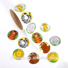 Lovely cartoon animals pattern paper roll sticker for kids