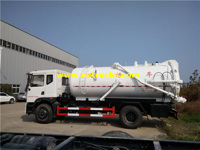 11000L Excrement Suction Tanker Trucks