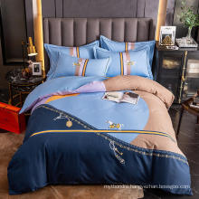 Home Textile Modern Design Bedding Cotton Printed Comfortable for Double Bed Sheet