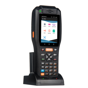Industrial barcode scanner Handheld Rugged PDA dengan charger