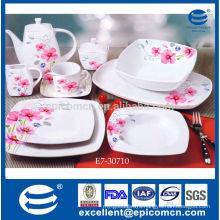 bright color printed on ceramic square plate