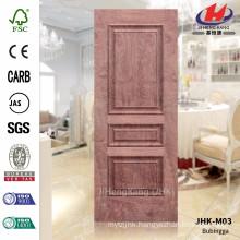 JHK-M03 12MM Depth New Design FSC Certificate HDF N-Rosewood Pressing Wood Veneer N-Bubinga Door Sheet