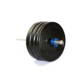 Custom fitness power training gym competition rubber color bumper barbell weight lifting plates