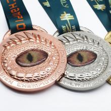 Shenzhen Dongguan Medal Gold Custom Empty Oem Gold Silver Evil Eye Excellence Medals