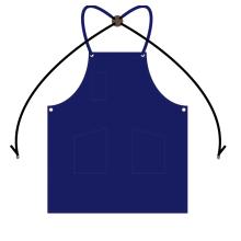 custom logo cross back apron with pockets