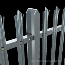 UK Australia Hot Dipped Galvanized Steel Palisade Security Fencing Palisade Fencing 2.75m Length
